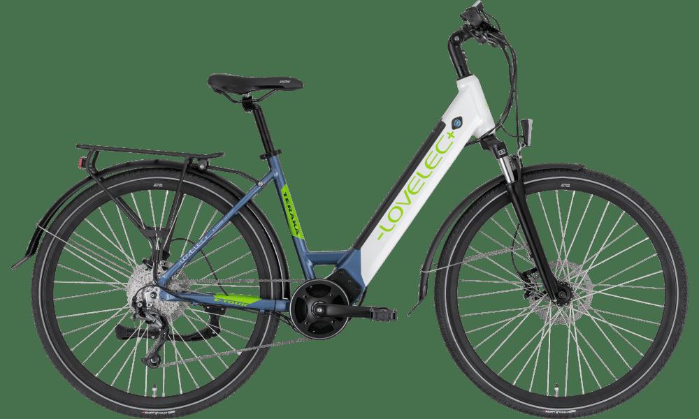 Ladies Electric Bike Mid Drive 28 Inch Lovelec Teraka white 17.5ah
