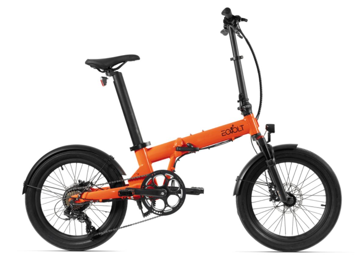 Electric Folding Bike 20 inch EOVOLT Comfort X Orange