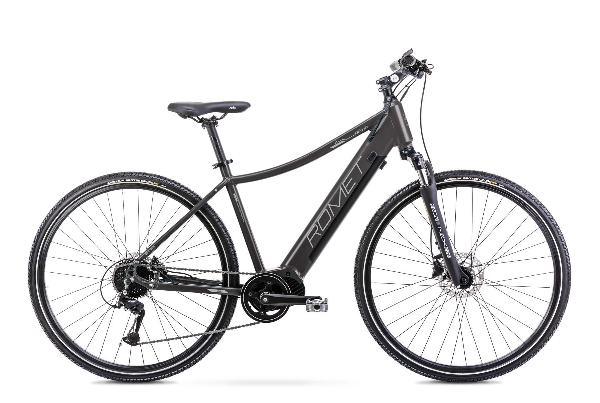 Mens Electric Hybrid Bike Mid Drive 28 Inch Romet Orkan 2D 20Inch Black