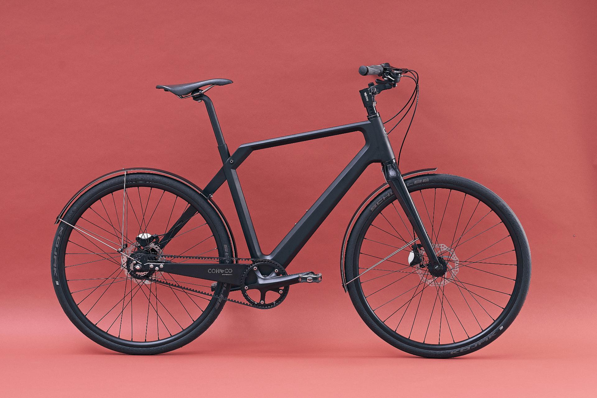 "Electric Hybrid Bike Coh&Co ERIK Urban Electric 57"" L Belt Black"