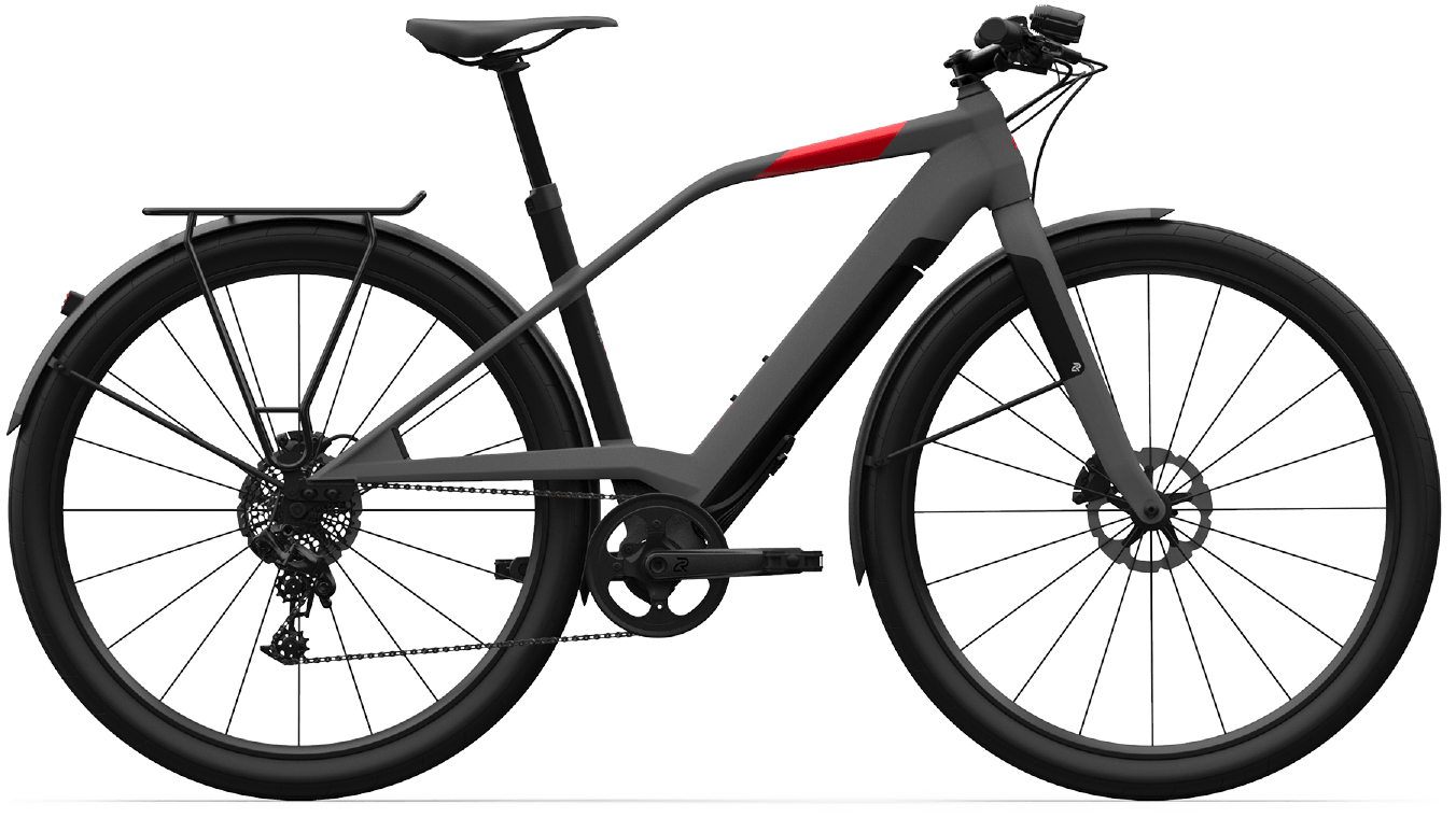 Smart Electric Hybrid Bike Logo FS10 Metallic M