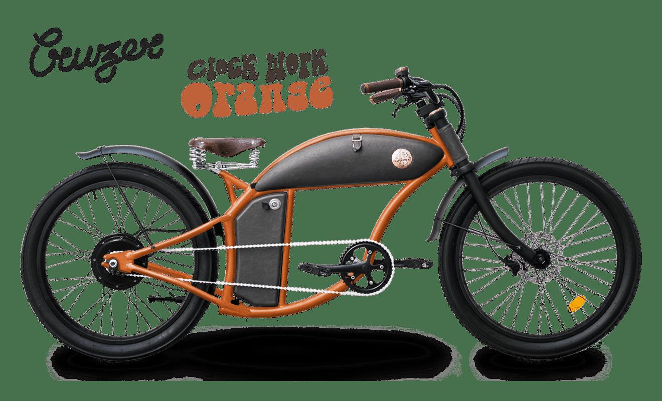 Rayvolt E Bike chopper Cruzer 45km/hr Orange M 550Wh