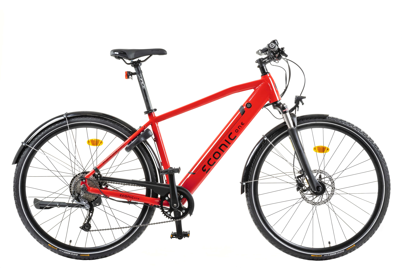 Electric Hybrid Bike Econic One Urban Smart L 48cm Red