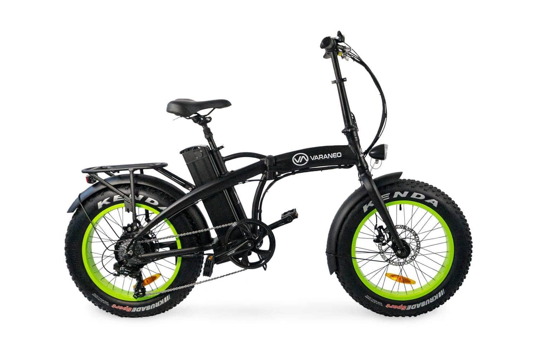 Electric Folding Bike Fat tyre Varaneo Dinky Black Matt