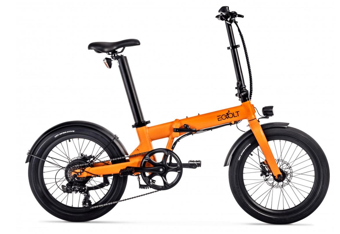 Electric Folding Bike 20 inch EOVOLT Comfort Orange