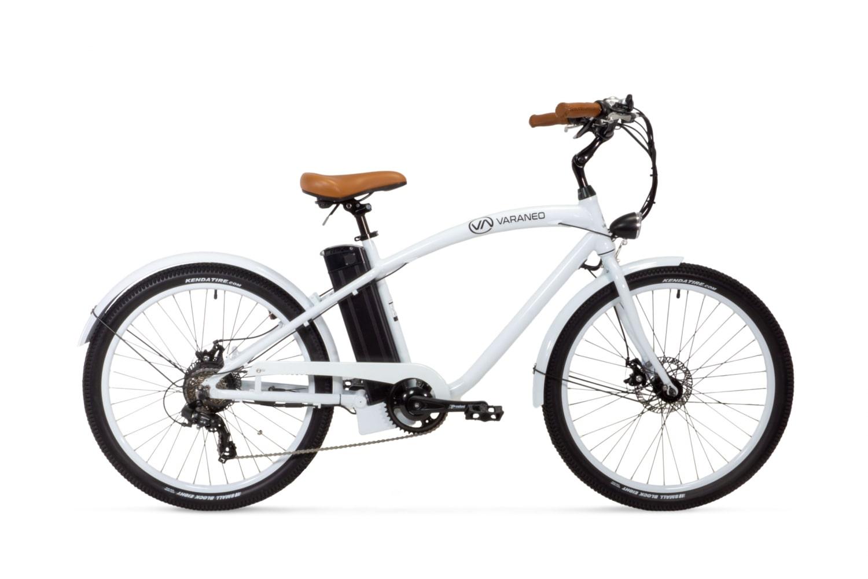 Electric Cruiser Bike Varaneo Beachcruiser White