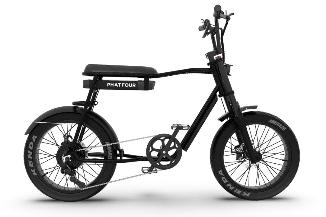 Retro Electric Fat Bike Vintage 70s PHATFOUR FLS+ Black 470Wh