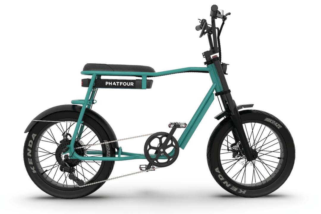 Retro Electric Fat Bike Vintage 70s PHATFOUR FLS+ Green 470Wh