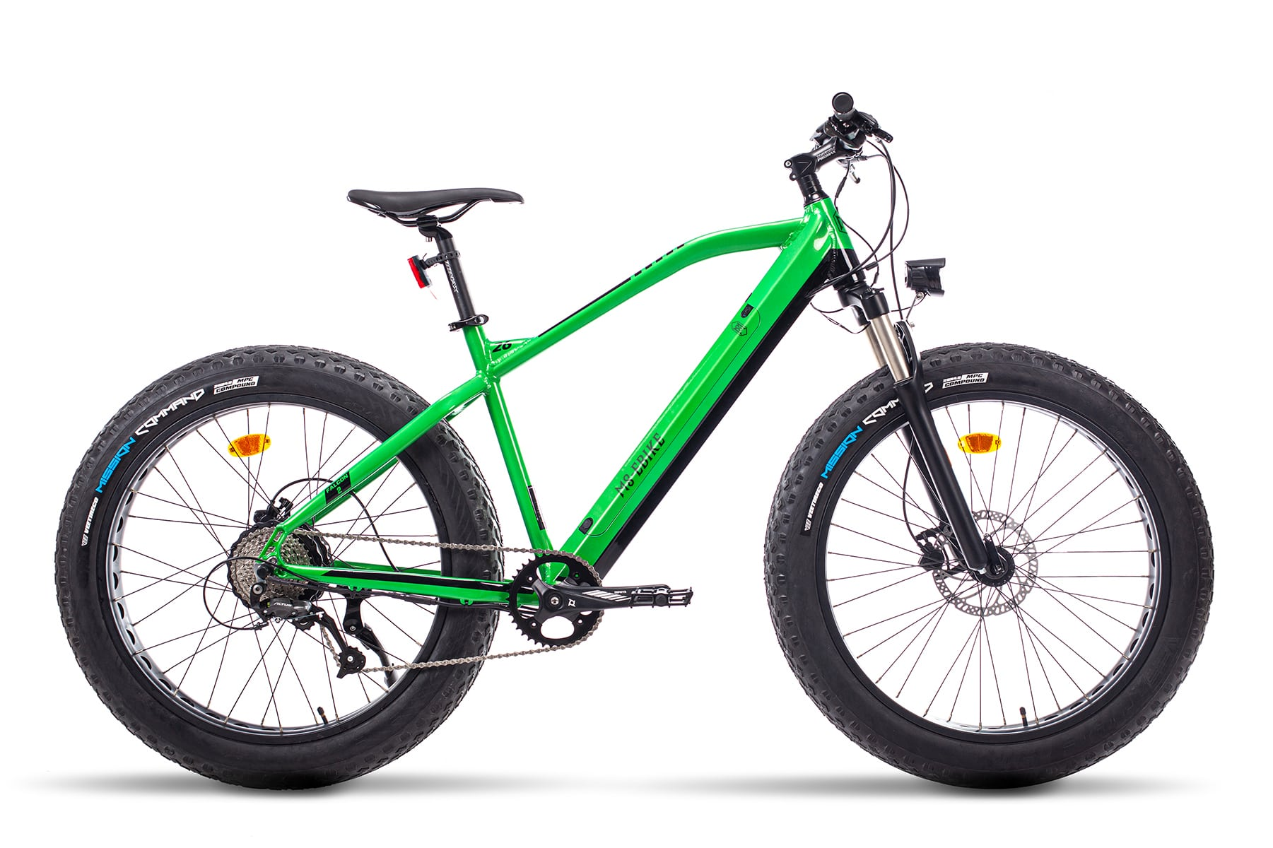 Hybrid electric bike with fat tyres Falcon Green