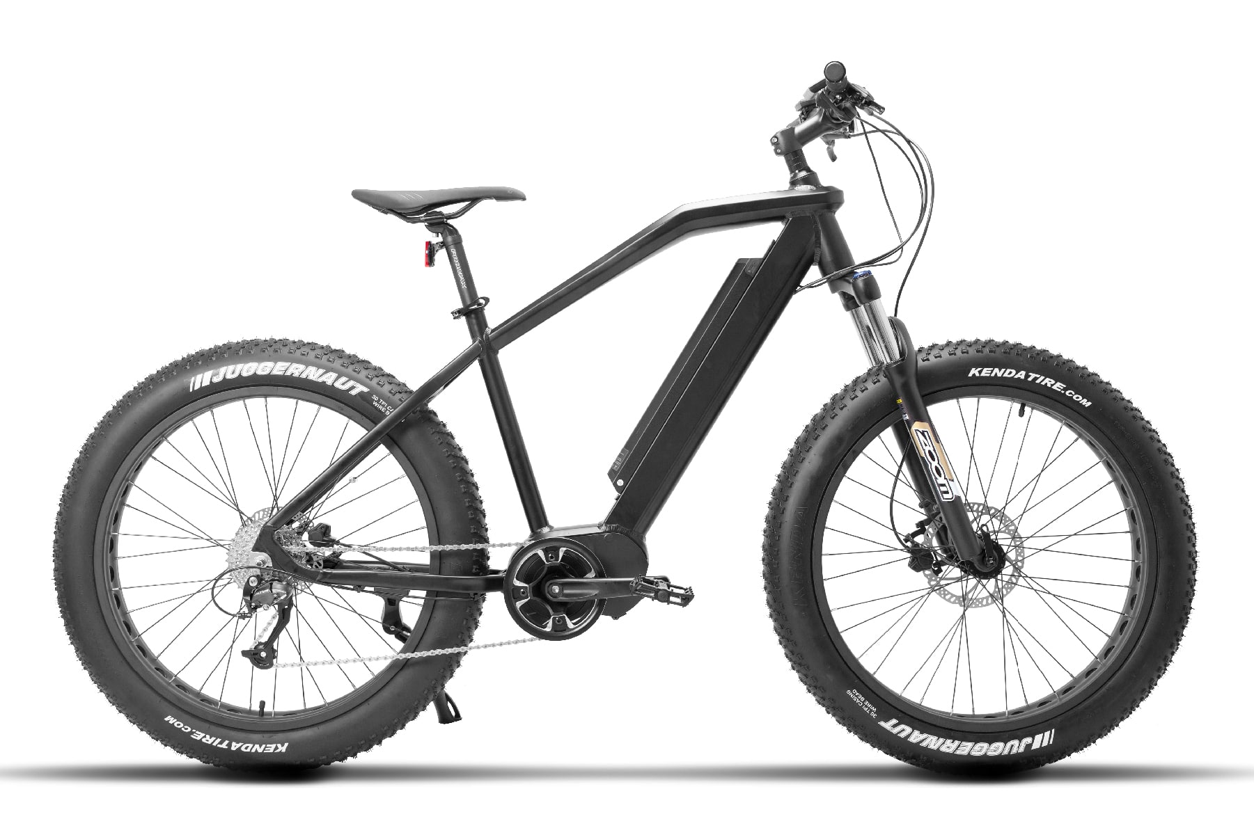 Hybrid electric bike with fat tyres Falcon Black