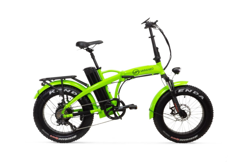 Electric Folding Bike Fat tyre Varaneo Dinky Sport Bright green