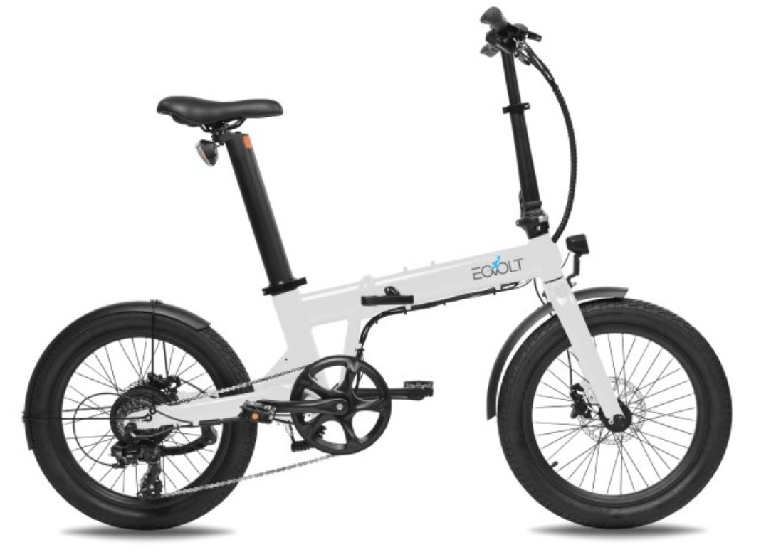 Electric Folding Bike 20 inch EOVOLT Comfort White