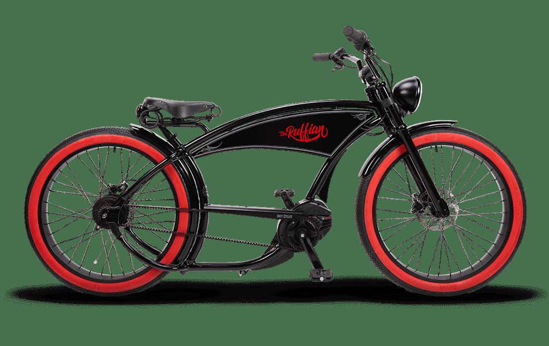Ruff Cycles Ruffian Electric Chopper Bike Bosch Mid Drive 300Wh Black