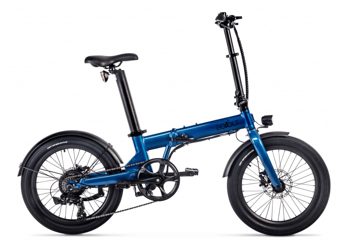 Electric Folding Bike 20 inch EOVOLT Comfort Blue