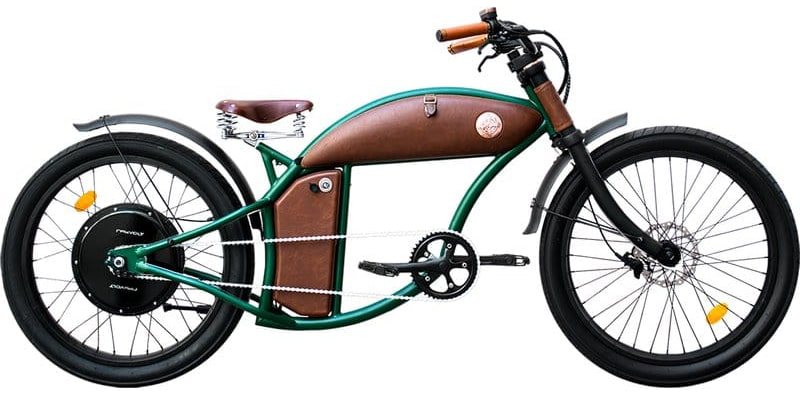 Rayvolt E Bike chopper Cruzer 45km/hr Green L 550Wh