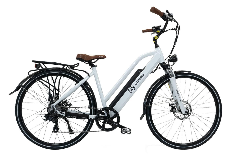 Ladies Electric Bike Step through Varaneo White