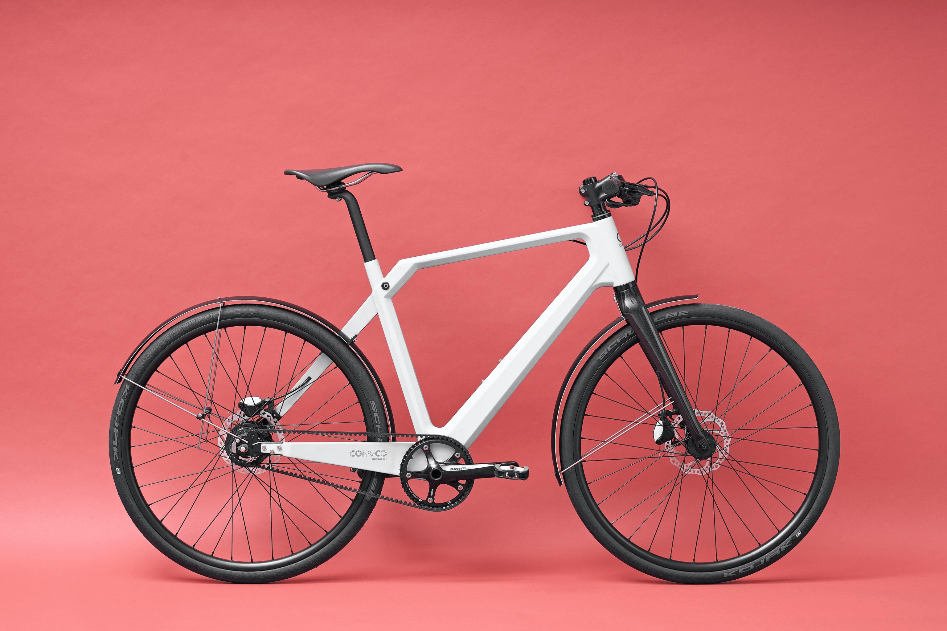 "Electric Hybrid Bike Coh&Co ERIK Urban Electric 54"" M Chain White"