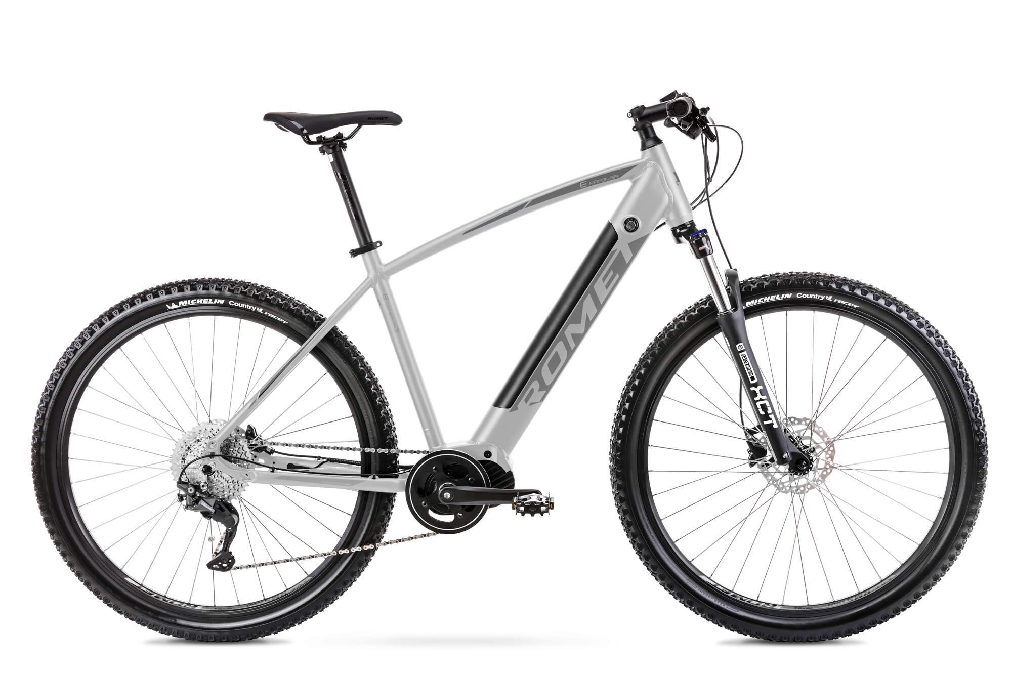 Electric Mountain Bike Mid Drive 29 Inch Romet E-Rambler 18Inch Silver