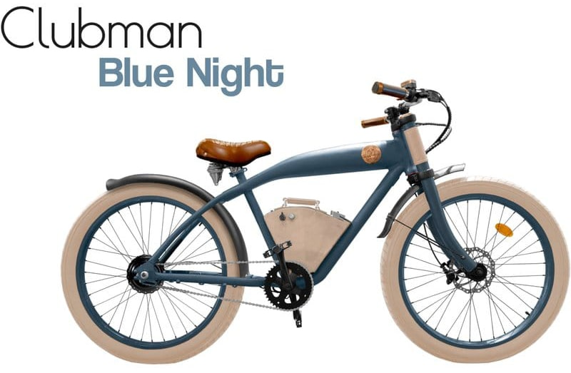 Rayvolt E Bike Cruiser Clubman Blue 360Wh