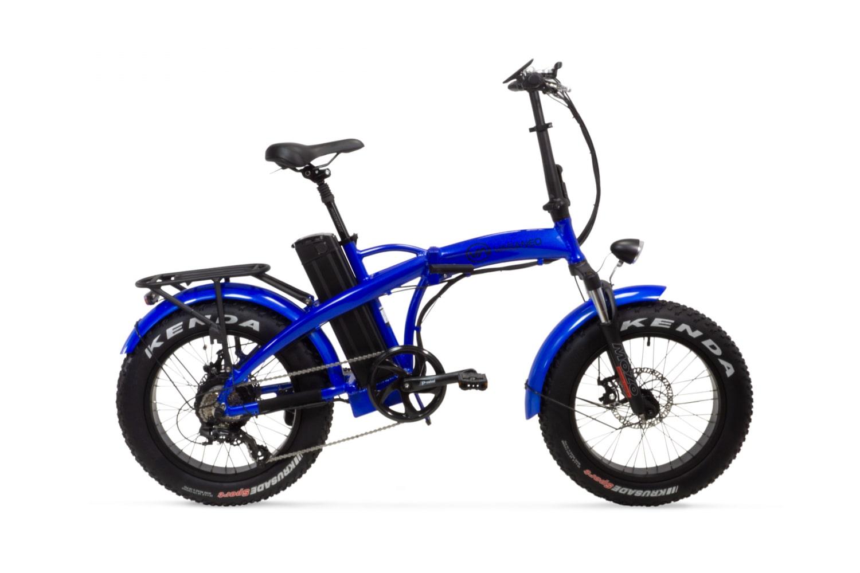 Electric Folding Bike Fat tyre Varaneo Dinky Sport Blue